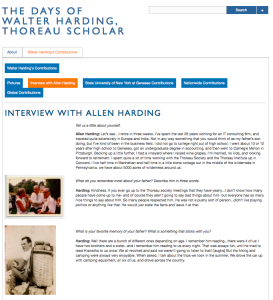 Interview with Allen Harding Screen Shot