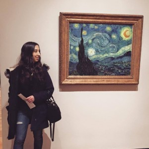 "Did I use ""The Starry Night"" as an example in order to shamelessly insert this pic of me apologizing to the MoMA employee yelling at me for taking this picture? Yes I did."